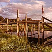 Patriotic Dock Art Print