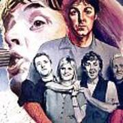 Paul McCartney and Wings Art Print
