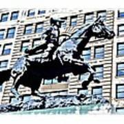 Paul Revere Galloping Statue Art Print