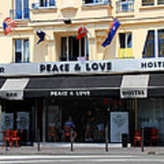 Peace And Love Hostel Art Print