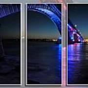 Peace Bridge 01 Triptych Series Art Print