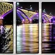 Peace Bridge 02 Triptych Series Art Print