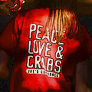 Peace Love And Crabs  Art Print