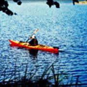 Peaceful Canoe Ride Ll Art Print
