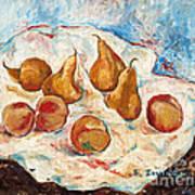 Peaches And Pears Art Print