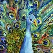 Peacock Party Art Print