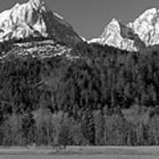 Peaks Near Schwangau In The Bavarian Alps Art Print
