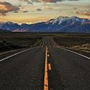 Peaks To Craters Highway Art Print by Benjamin Yeager