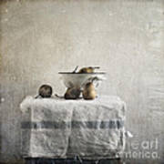 Pears Under Grunge Art Print by Paul Grand