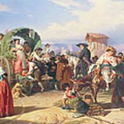 Peasants Of The Campagna Art Print