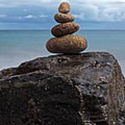 Pebble Sculpture Art Print