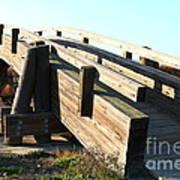 Pedestrian Bridge At Martinez Regional Shoreline Park In Martinez California . 7d10513 Art Print