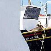 Peek-a-boat Art Print