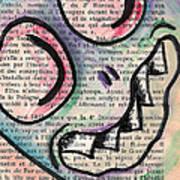 Peekaboo Monster Art Print