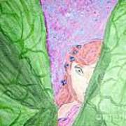 Peeking Fairy  Art Print