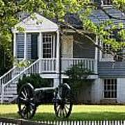 Peers House And Cannon Appomattox Court House Virginia Art Print