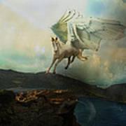 Pegasus Flying Horse Art Print