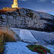 Peggys Cove Lighthouse Nova Scotia Art Print