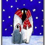 Penguin's First Christmas Art Print
