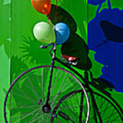 Penny Farthing And Balloons Art Print by Garry Gay