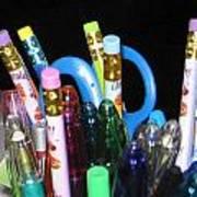 Pens And Pencils Art Print