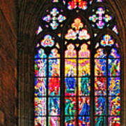 Pentecost Window - St. Vitus Cathedral Prague Art Print by Christine Till