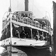 People Fleeing Galveston After Flood - September 1900 Art Print