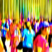 People Walking In The City-4 Art Print