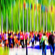 People Walking In The City-9 Art Print
