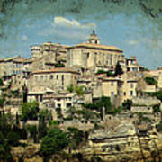 Perched Village Of Gordes Art Print