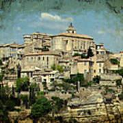 Perched Village Of Gordes Art Print