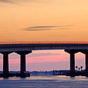 Perdido Bridge Sunrise Closeup Art Print