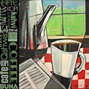 Perk Coffee Languages Poster Art Print
