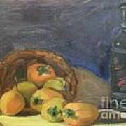 Persimos Y Vino Art Print by Lilibeth Andre