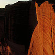 Person Standing Atop The Kings Canyon Art Print