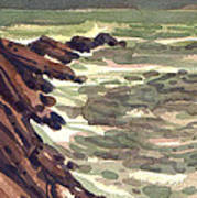 Pescadero Rocks Art Print