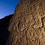 Petroglyphs Are Seen At Twilight Art Print