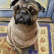 Hungry Pug Art Print