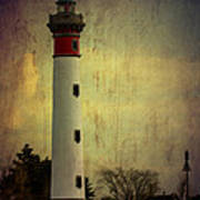 Phare De Ouistreham Or Ouistreham Lighthouse    Caen Art Print