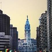 Philadelphia Cityhall At Dawn Art Print