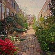 Philadelphia Courtyard - Symphony Of Springtime Gardens Art Print by Mother Nature