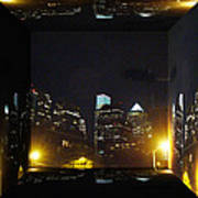 Philadelphia Skyline At Night - Mirror Box Art Print