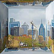 Philadelphia Skyline - Mirror Box Art Print