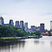 Philadelphia View From The Girard Avenue Bridge Art Print by Bill Cannon