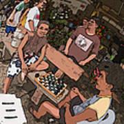 Philippines 4293 Checkers Art Print