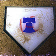 Phillies Home Plate Art Print by Bill Cannon