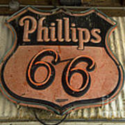 Phillips 66 Vintage Sign Art Print