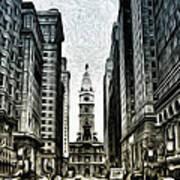 Philly - Broad Street Art Print