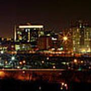 Philly Night Panoramic Art Print
