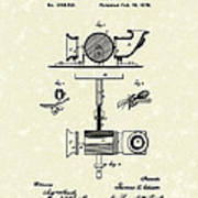 Phonograph 1878 Patent Art  Art Print by Prior Art Design